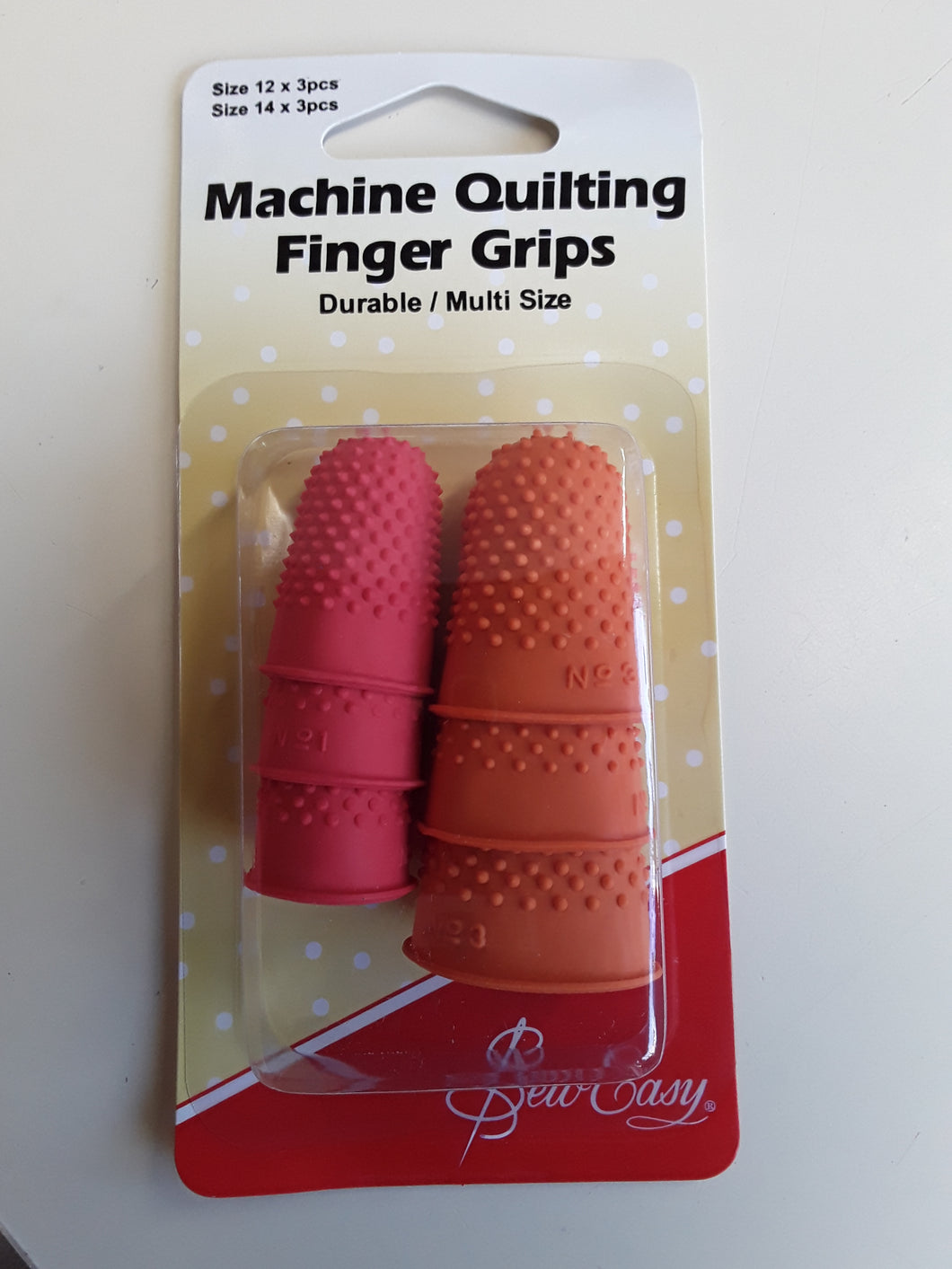 Machine quilting finger grips