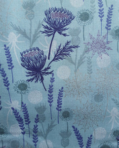 Lewis and Irene metallic silver thistle
