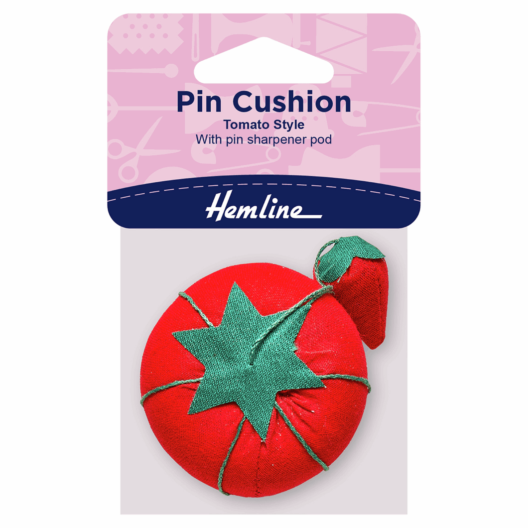 Hemline Tomato Pincushion: with Strawberry Sharpener