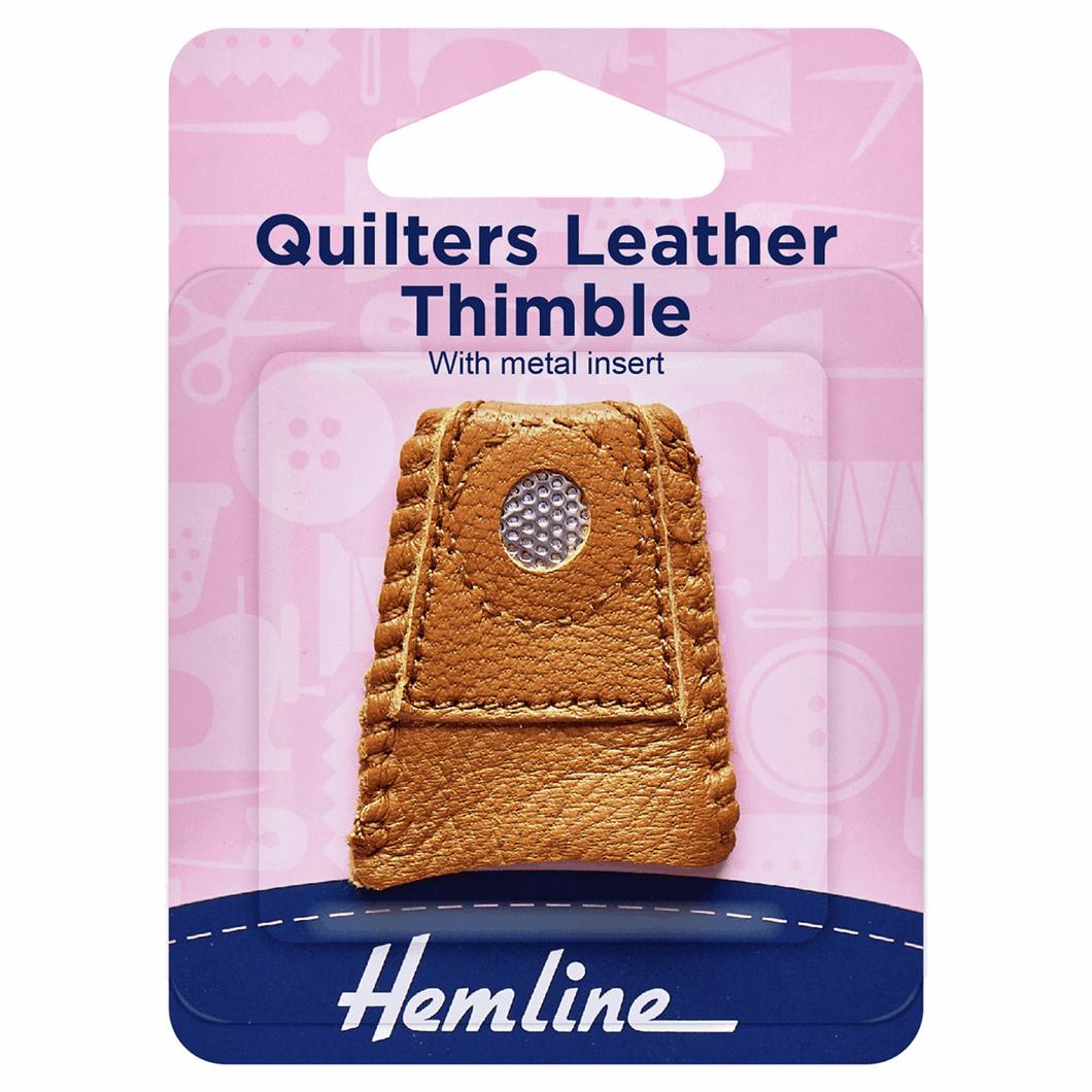 Hemline Quilters Leather Thimble
