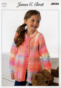 James C Brett Marble Chunky  Pattern 085 - Cardigan