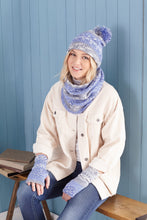 Load image into Gallery viewer, King Cole Fjord DK Pattern 5654 - Scarf, Wrist Warmers, Beret, Mitts, Hat and Snood