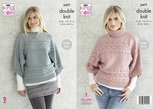 King Cole Subtle Drifter Pattern 5477 - Sweaters