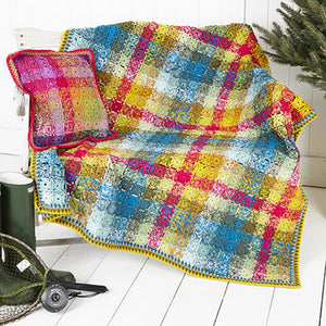 Stylecraft Special DK Pattern 9255 Crochet Blanket and Cushion Cover