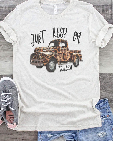 """Just Keep On Truckin'"" Graphic Tee"