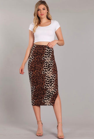 Cheetah Pencil Maxi Skirt