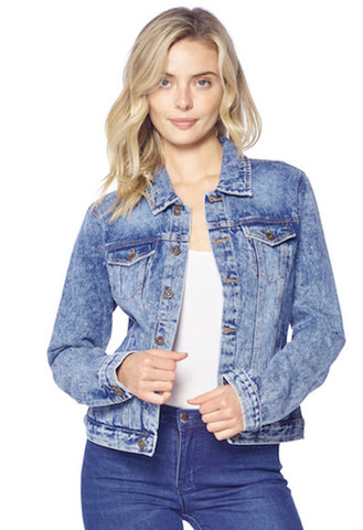 Distressed Washed Light Jean Jacket