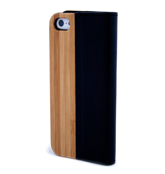 iPhone 5/5S/SE Split Flip Bamboo