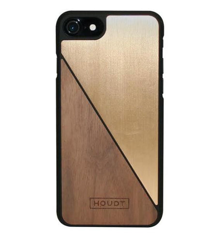 iPhone 7 / 8 Walnut & Gold
