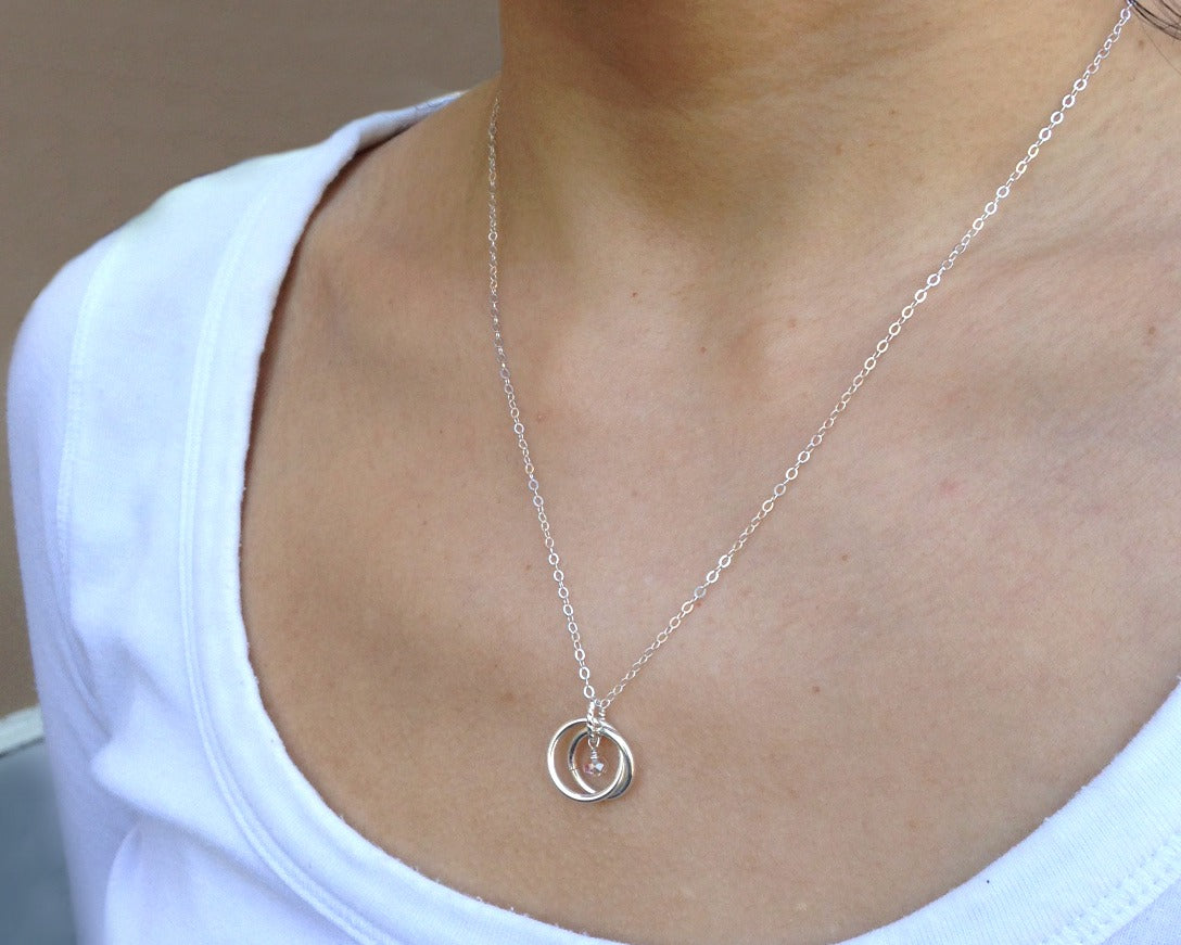 New Mom Gifts Sterling Silver Necklace For Mother And Baby Girl Boy Mothers Day Jewelry Gift Ideas