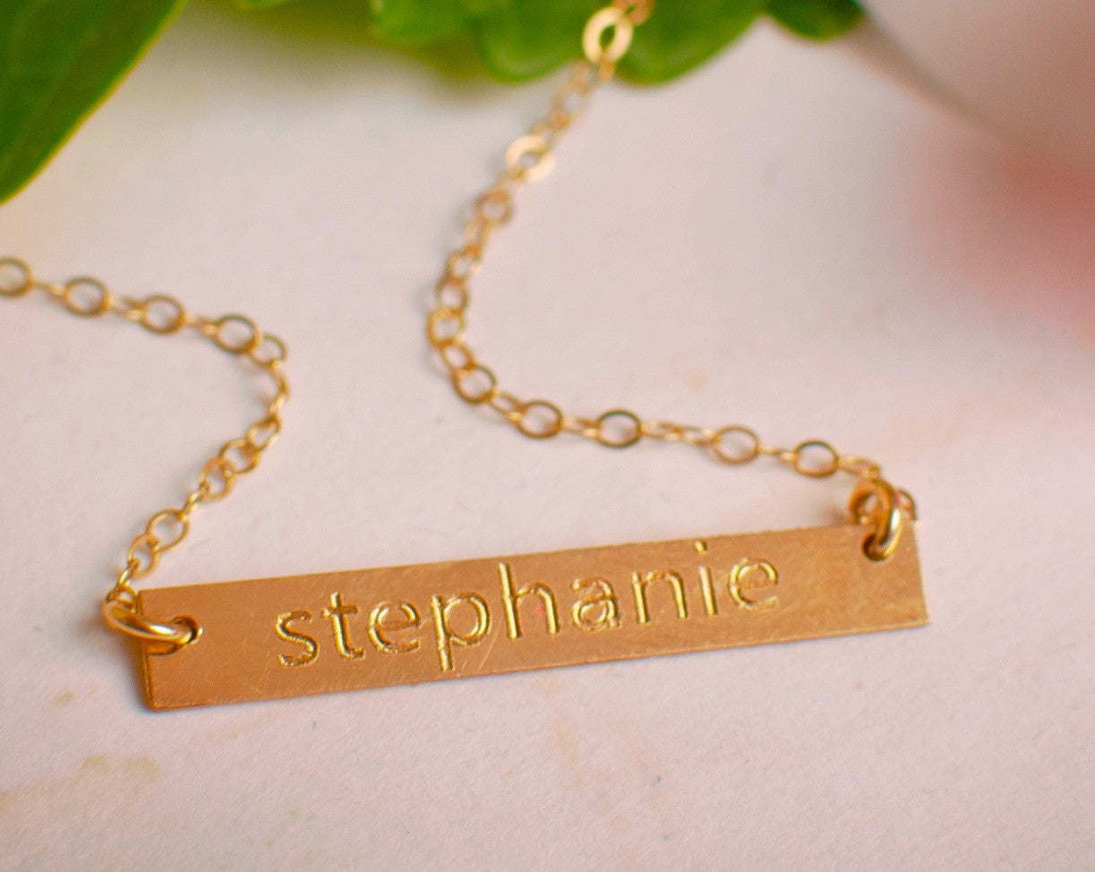 Personalized Jewelry Monogram Necklace Name Necklace
