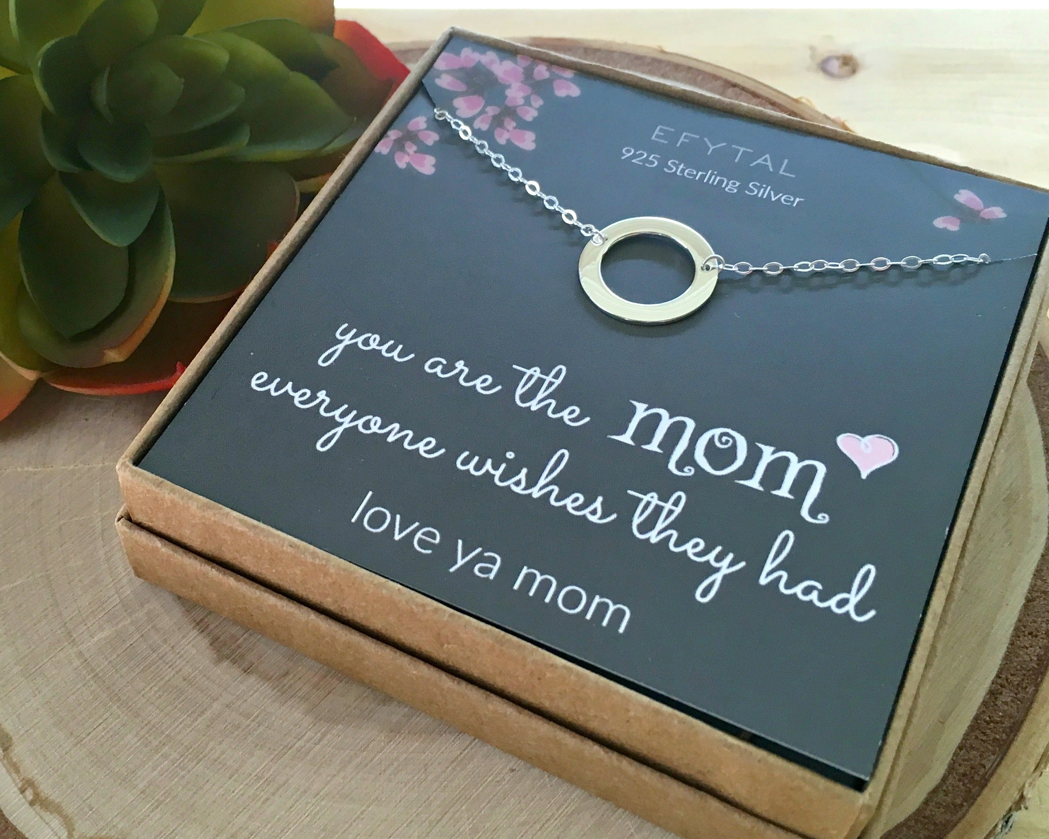 647f27c5ff386a Mothers Day Mom Gifts, 925 Sterling Silver Infinity Circle Necklace for  Mother, Necklaces for Women, Best Birthday Gift Ideas, Pendant Mother's  Jewelry For ...