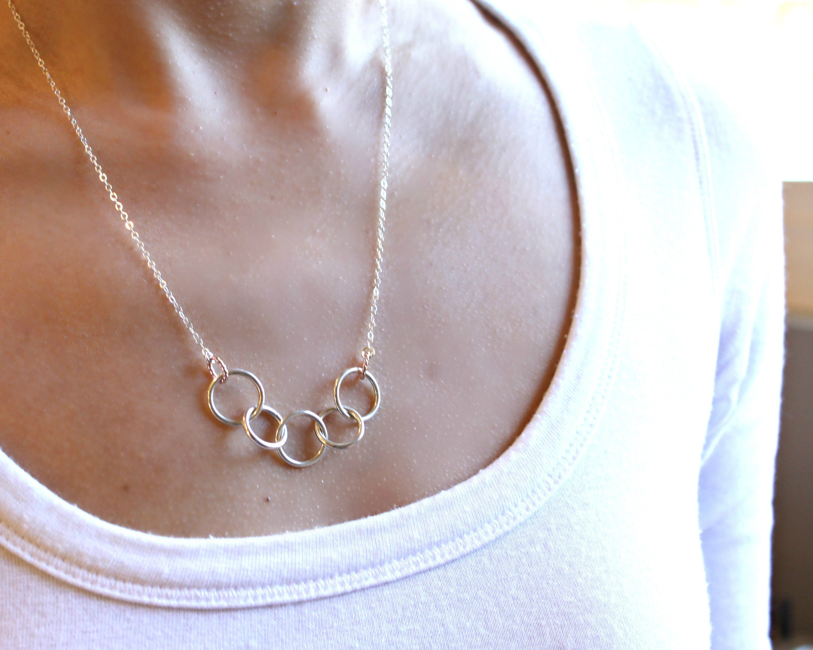 Happy 50th Birthday Decades Necklace Sterling Silver 5