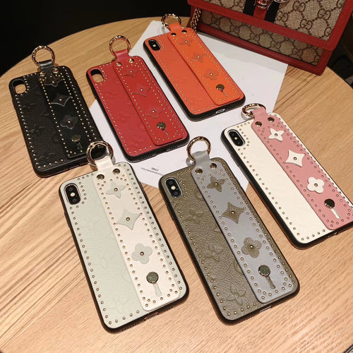 CARA™ Luxury Embossed Monogram iPhone Case
