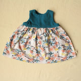 Geranium dress + bloomers + bow