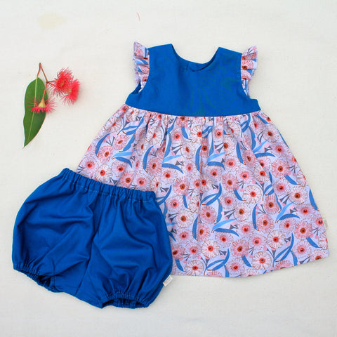 Geranium dress + bloomers