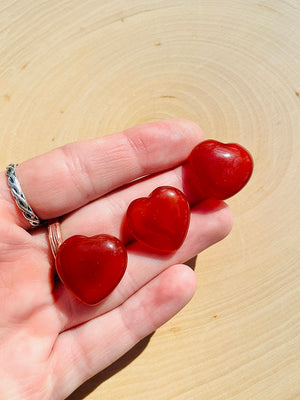 Red Agate Heart
