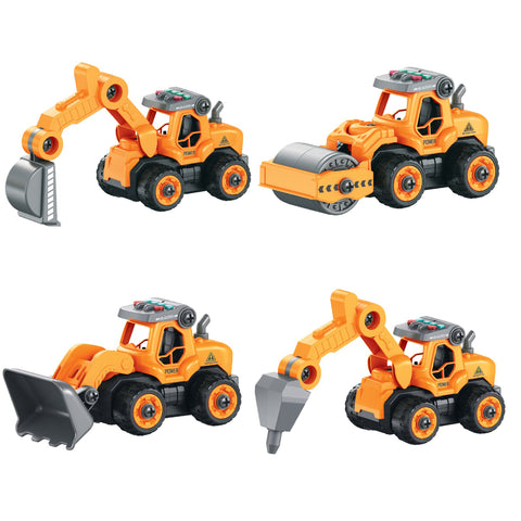 Lil' Builders RC Take Apart Toys - Construction (4-in-1)