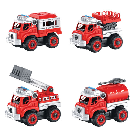 Lil' Builders RC Take Apart Toys - Firetruck (4-in-1)