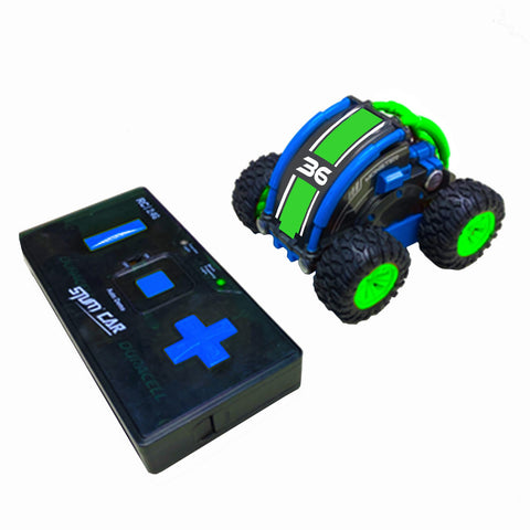 Stunt Roller RC Car - Green/Blue