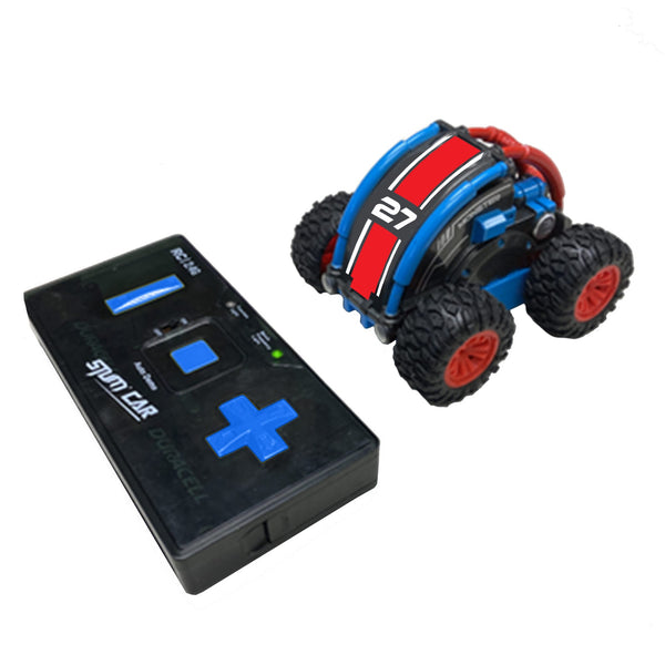 Stunt Roller RC Car - Red/Blue