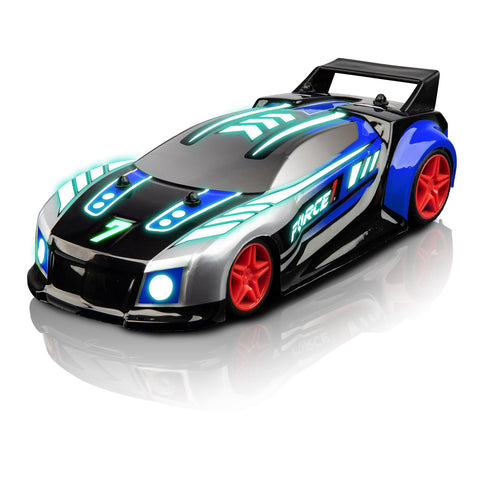Techno Racer LED RC Music Car - Blue