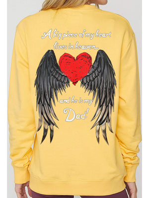 Devil's Wings Print Pullover Sweatshirt