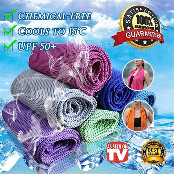 Chemical-Free Cooling Instant Cooling Towels——Cools to 30℃/UPF 50+ Comfy All Day