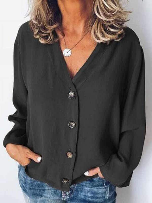 wiccous.com Plus Size Tops Black / L Plus size chiffon shirt cardigan