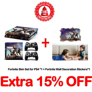 Fortnite Skin Set for PS4+Fortnite Wall Decoration Stickers
