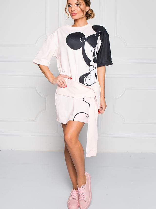 Mickey Tie A Knot Long Sleeve T-shirt Dress