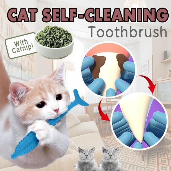 Cat Self-Cleaning Toothbrush---PROTECT YOUR CAT