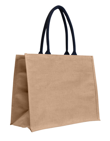 Laminated Juco Supermarket Bag with Black Handles