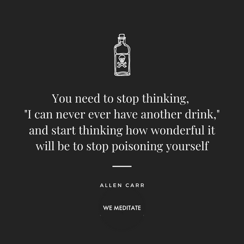 Meditation to stop drinking: Going alcohol free