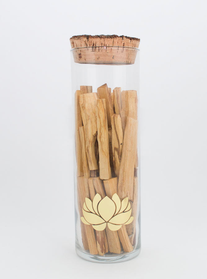 Palo Santo in a Glass Cylinder