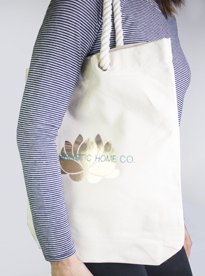 Gold Lotus Tote Bag