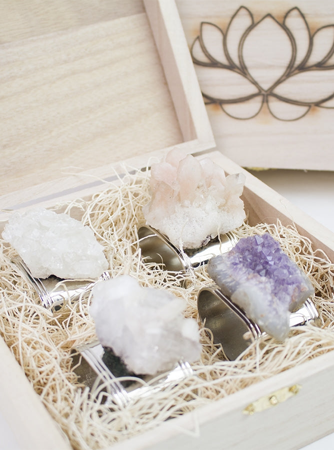Raw Crystal Napkin Rings