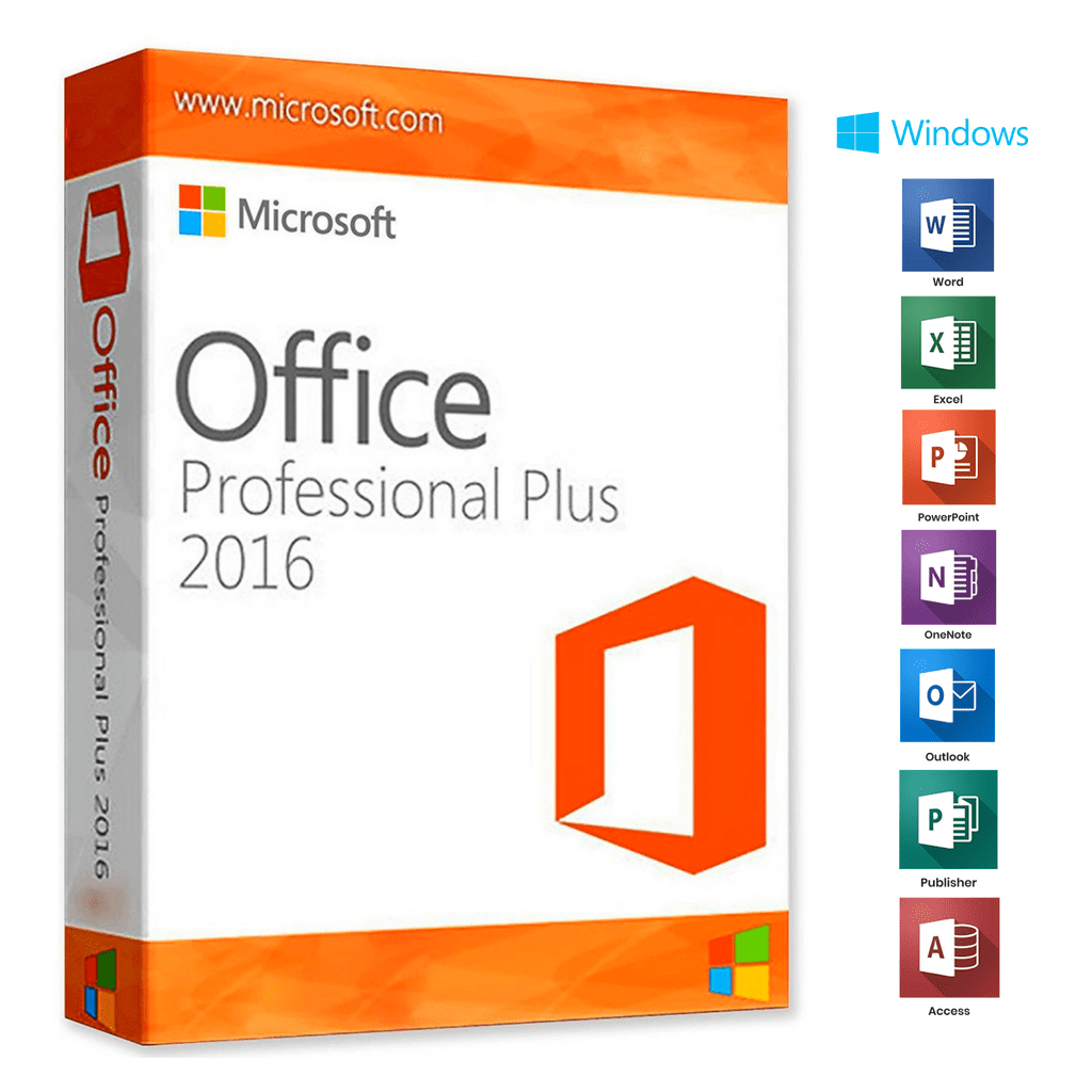 Microsoft Office 2016 Professional Plus Original License Key