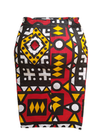 Sikha Skirt L'Audacieuse Puzzle Red