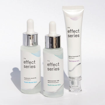 The Effect Series Youth skin set Niacinamide 10% Hyaluronic Acid 2% retinyl palmitate 1% age reverse