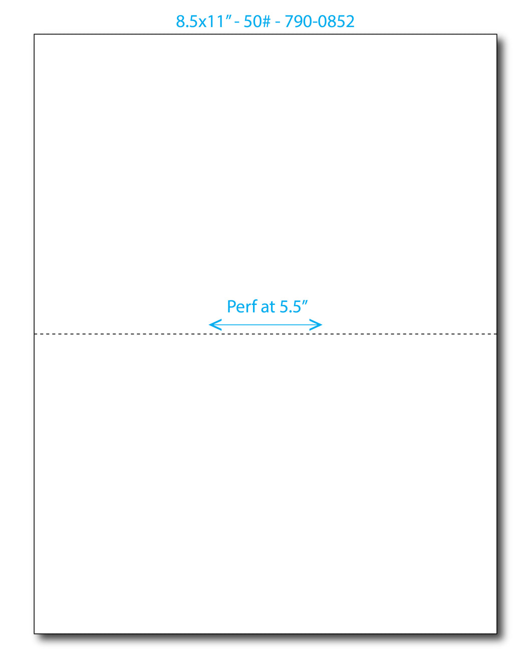 Blank Perf Paper (8.5 x 11