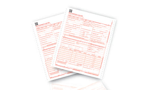 790-0118QR  (CMS-1500 Double Ply Continuous Form) 1,000 / case