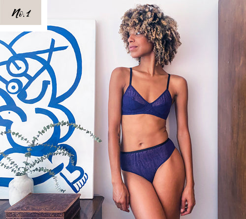 Kristel Magan for Philomena intimates in Forget-me-not
