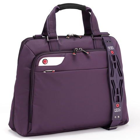 "i-stay Launch Ladies Laptop Bag in purple (is0126, 15.6-16"")"