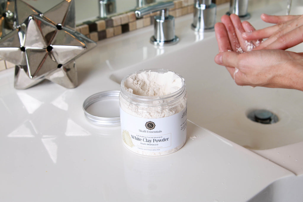 Pure Moroccan White Clay Powder for Normal to Dry Skin