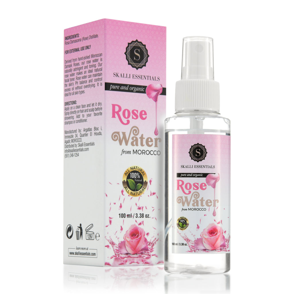 Pure Moroccan Rose Water from Damask Roses