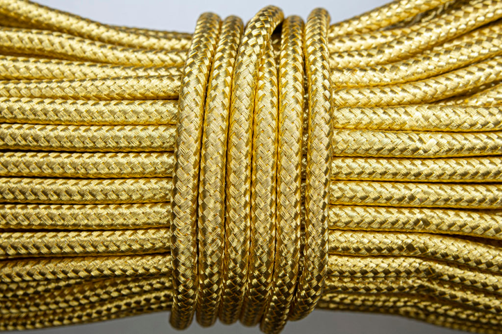 1% Gold Orris Tressed Diamond Cord - 7mm (4431553822792)