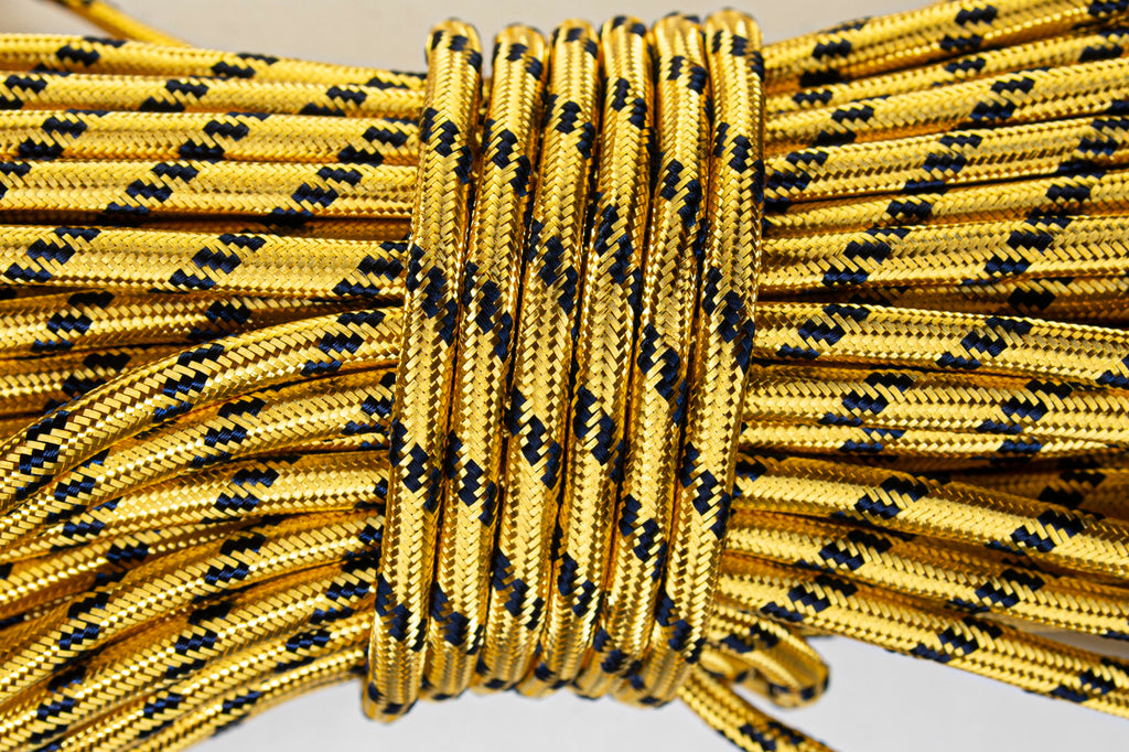 2% Gold and Coloured Flecked Cord - Navy (4431553036360)