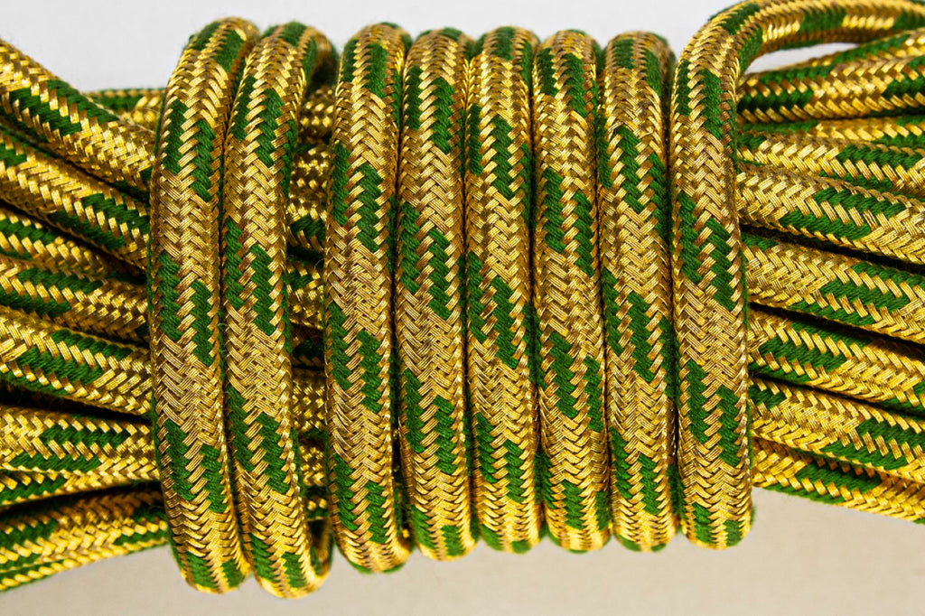 2% Gold and Coloured Flecked Cord - Green (4435121438792)