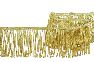 Gold Plated Bullion Fringe 4 Inch (100 mm) (4334640889928)